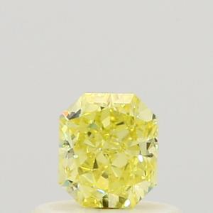 Radiant 0.42 carat Yellow VVS2 Photo