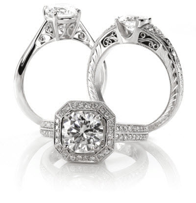 unique engagement rings - Unique Wedding Ring Set