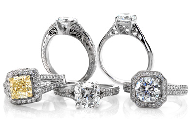 Unique Engagement Rings at Knox Jewelers. Cushion cut engagement rings. Split shank engagement rings. Fancy yellow diamond engagement rings. Filigree engagement rings.