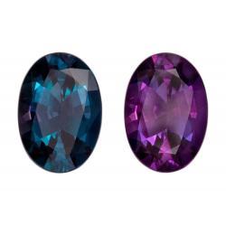 Alexandrite Oval 0.70 carat Purple/Green Photo