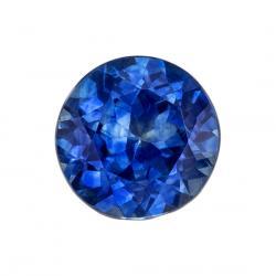 Sapphire Round 0.77 carat Blue Green Photo
