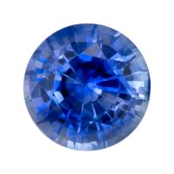 Sapphire Round 0.55 carat Blue Photo