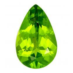 Peridot Pear 4.63 carat Green Photo