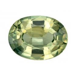 Sapphire Oval 0.81 carat Green Photo