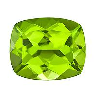 Peridot Cushion 3.85 carat Green Photo