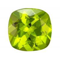 Peridot Cushion 3.24 carat Green Photo
