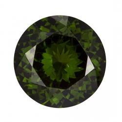 Zircon Round 3.88 carat Green Photo