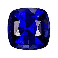 Sapphire Cushion 0.38 carat Blue Photo