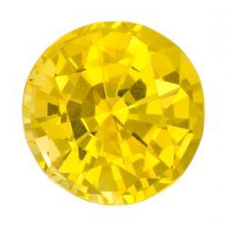Sapphire Round 1.13 carat Yellow Photo