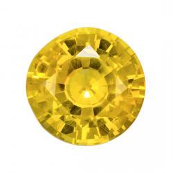 Sapphire Round 0.95 carat Yellow Photo