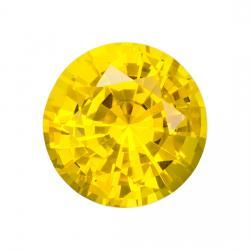 Sapphire Round 0.88 carat Yellow Photo