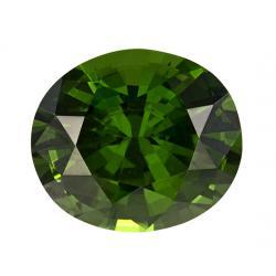 Zircon Oval 4.54 carat Green Photo