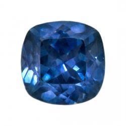 Sapphire Cushion 0.78 carat Blue Green Photo