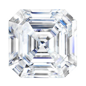 Moissanite Asscher 1.30 carat Colorless Photo