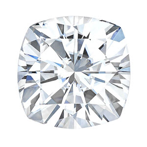 Moissanite Cushion 0.33 carat Colorless Photo