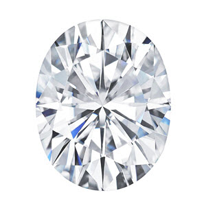 Moissanite Oval 0.43 carat Colorless Photo