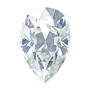 Moissanite Pear 0.39 carat Colorless Photo