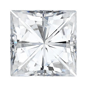Moissanite Square 0.40 carat Colorless Photo