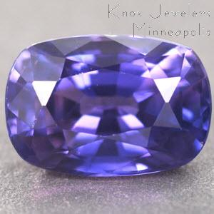 Sapphire Cushion 0.87 carat Purple Photo