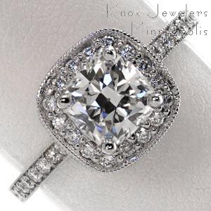 antique cushion cut engagement rings HKWrTMFE