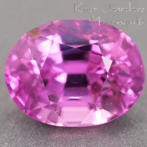 Sapphire Oval 0.88 carat Pink Photo
