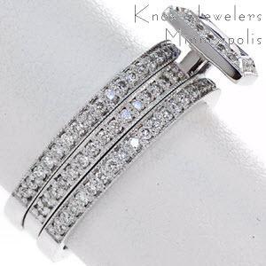Princess Cut Blue Sapphire Bezel Set in Diamond Halo Engagement Ring