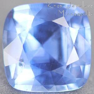 Sapphire Cushion 0.77 carat Blue Photo