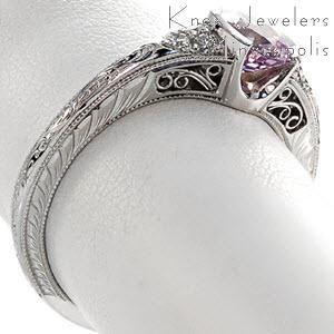 Purple Sapphire Engagement Ring - Knox Seville Design