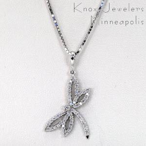 Pendants knox jewelers diamond dragonfly pendant mozeypictures Images
