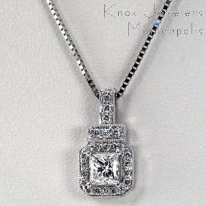 Art Deco Diamond Pendant - Pendants