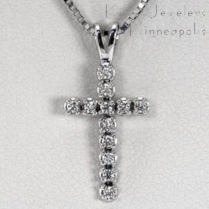 Petite Diamond Cross - Pendants