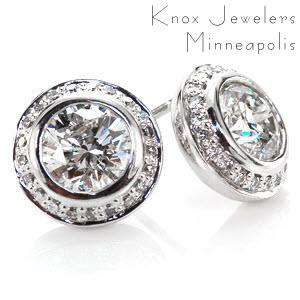 Image for Round Halo Earrings