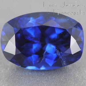 Sapphire Cushion 0.99 carat Blue Photo