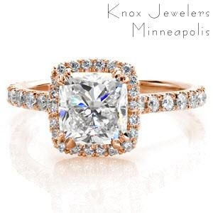 Heirloom quality halo engagement rings in Knoxville.
