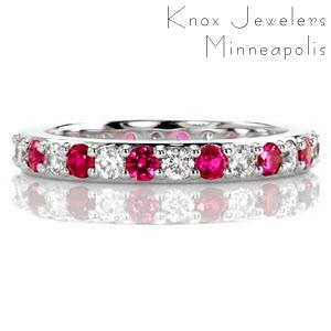 Ruby Eterno - Eternity Bands - Eternity Band, Ruby