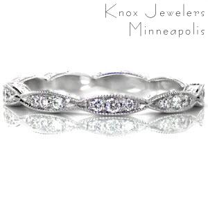 Primrose - Eternity Bands - Leaf Eternity Band