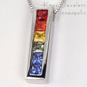 Rainbow Sapphire Drop - Pendants