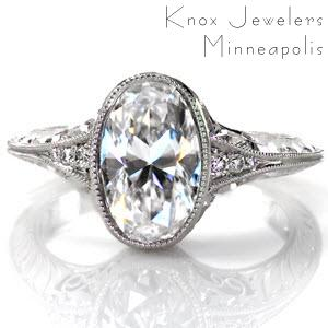 Milwaukee antique oval engagement rings.