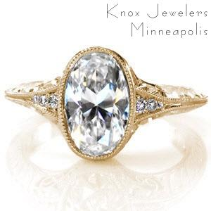 Oval antique engagement ring in Oklahoma City