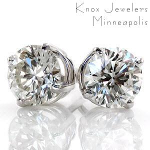 1.00 ct tw Round Studs - Earrings