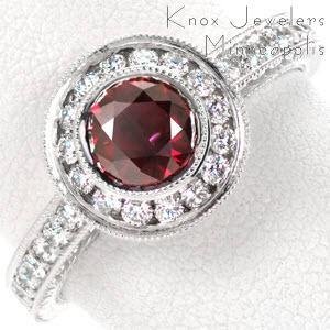 unique ruby engagement ring