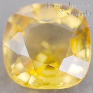 Sapphire Cushion 0.71 carat Yellow Photo