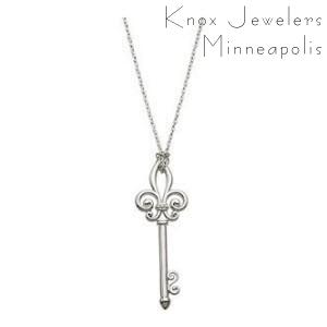 Fleur de lis key pendants knox jewelers image for fleur de lis key mozeypictures Image collections