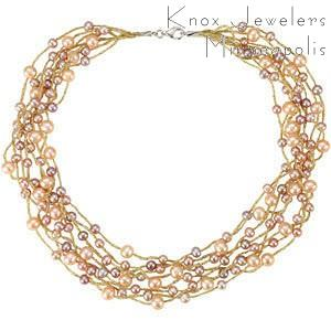 Multi Color Pearl Necklace - Gifts Under $200 - pearls