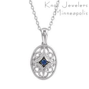 Oval Edwardian Sapphire - Gifts Under $200