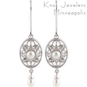 Edwardian Pearl Earrings - Best Selling Gifts - pearls