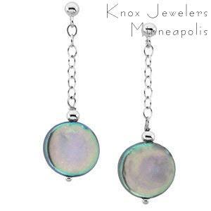 Coin Earrings - Pearls - pearls