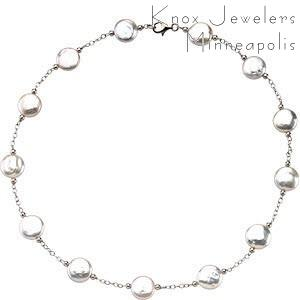 Image for White Coin Necklace