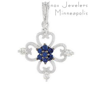 Sapphire-de-lis - Edwardian Collection