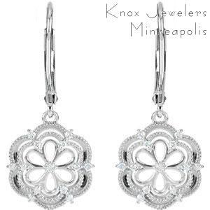 Whiteflower Dangles - Earrings